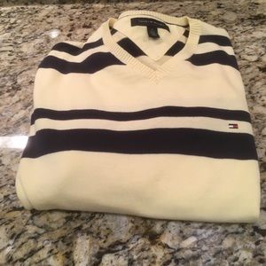 Tommy Hilfiger Yellow Striped Sweater